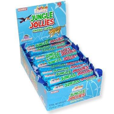 Jungle Jollies - Blue Raspberry, 48 count display -