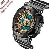 EVTCO Men's Digital Sports Watch Military Watches LED Quartz Digital Watch Waterproof Stopwatch Watch