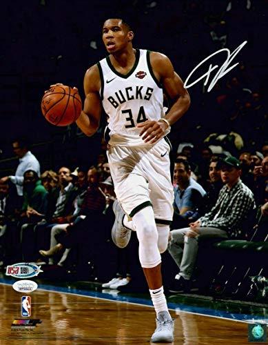 Giannis Antetokounmpo Bucks Signed Autographed 11x14 Photograph Photo JSA COA - Nike Poster Basketball