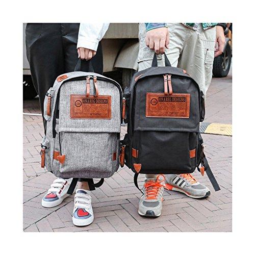 Rucksack Sulida Outdoor-Rucksack für Junge Computer-Tasche große Kapazität modich Black XnrdGV
