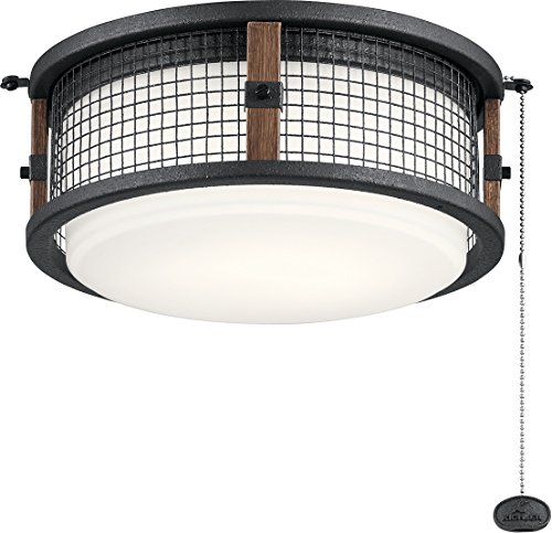 Kichler 380949AUB Ahrendale Outdoor Fan 1-Light Kit, LED 17 Watts, Auburn Stained