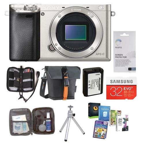 Sony Alpha A6000 Mirrorless Digital Camera Body Bundle. Value Kit with Acc by Sony