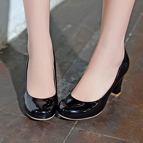 Office à verni cuir Shoes en noirs apparents Mee Escarpins talons qwxYTESw