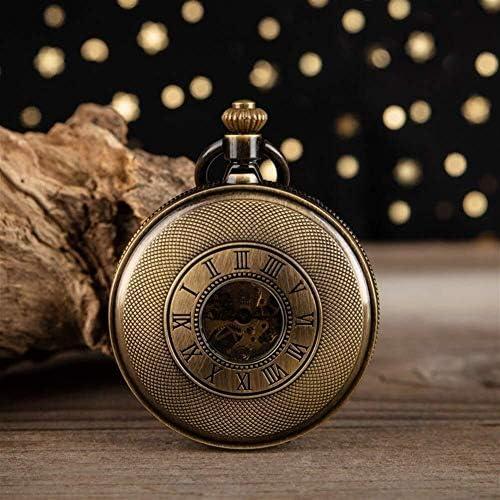 機械式懐中時計レトロノスタルジアローマフリップ懐中時計ネックレス高齢男性と女子学生専用テーブル、色名:3 (Color : 2)