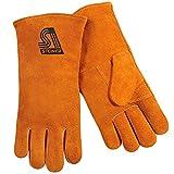 Steiner 02109F-L Welding Gloves, Brown Shoulder Split Cowhide Foam Back Palm Cotton Lined, Large (12-Pack)