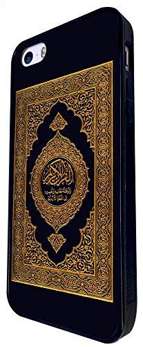 826 - Quran Muslim Holly Book Design iphone SE - 2016 Coque Fashion Trend Case Coque Protection Cover plastique et métal - Noir
