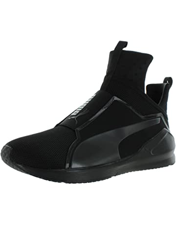 PUMA Mens Fierce Core Mono Ankle-High Leather Fashion Sneaker