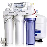 iSpring RCC7 High Capacity Under Sink 5-Stage Reverse Osmosis Drinking Water Filtration System and Ultimate Water Softener- 75GPD