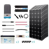 Renogy 600 Watt 12 Volt Premium Solar Complete Kit Monocrystalline with MPPT Charge Controller +Mounts+ 200AH Gel Battery+ 2000W Pure Sinve Inverter