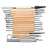 Blisstime Set of 42 Clay Sculpting Tool Wooden