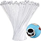 100 Pieces Disposible Plastic Round Top Crystal Swizzle Sticks (7.4 Inch, Clear)