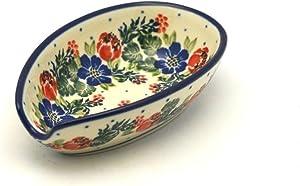 Polish Pottery Spoon Rest - Garden Party