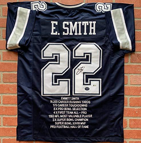 480c3d5c Emmitt Smith autographed signed jersey NFL Dallas Cowboys PSA COA