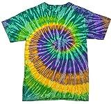 Colortone Tie Dye T-Shirt LG Mardi Gras