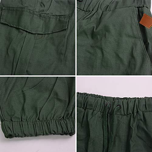 Pantalon Homme Avec Oeak Automnne Eté Vert Long De Cargo Travail Unie Poche SwddqHf