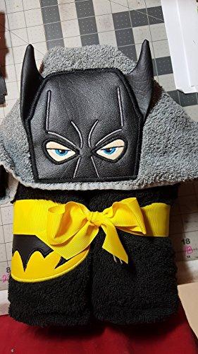 Personalized Bat Boy Hooded Towel