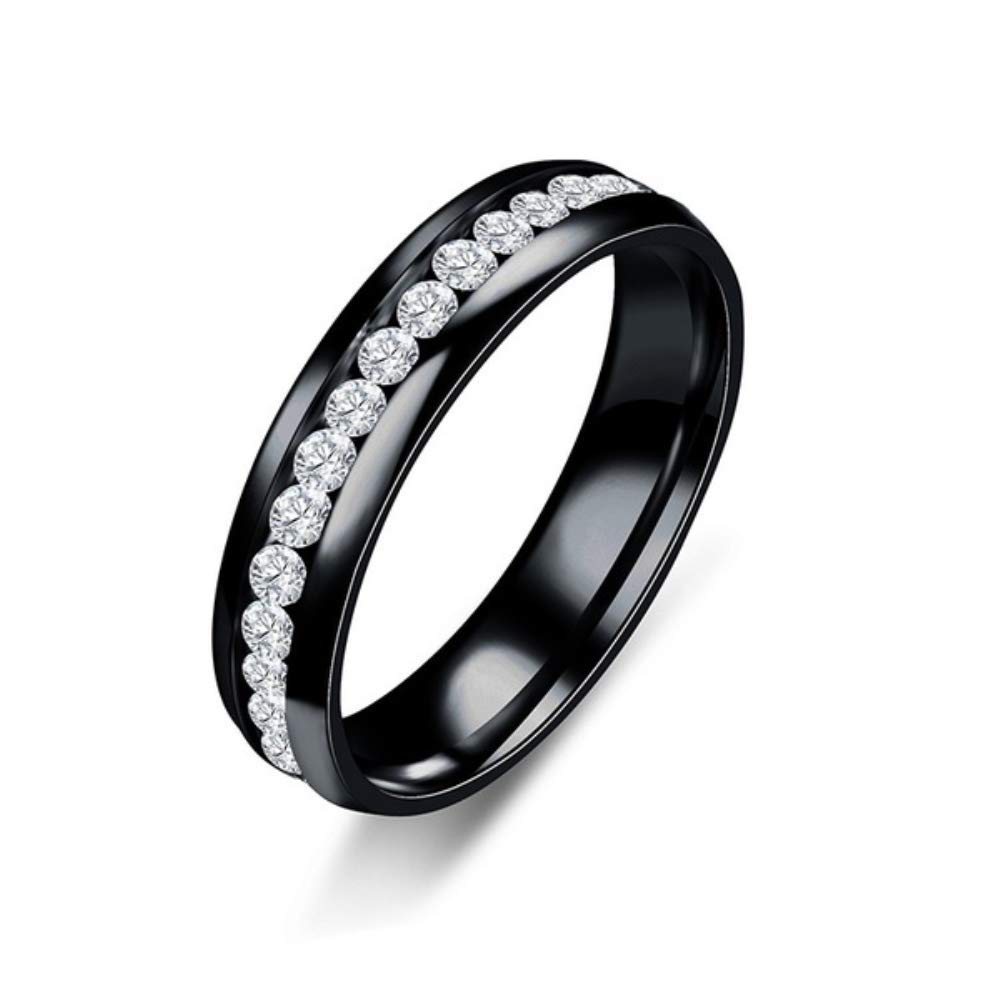 BoBoLing Crystal Ring Healthcare Weight Loss Ring Slimming Healthy Stimulating Acupoints Gallstone Ring Magnetic Therapy Black 9