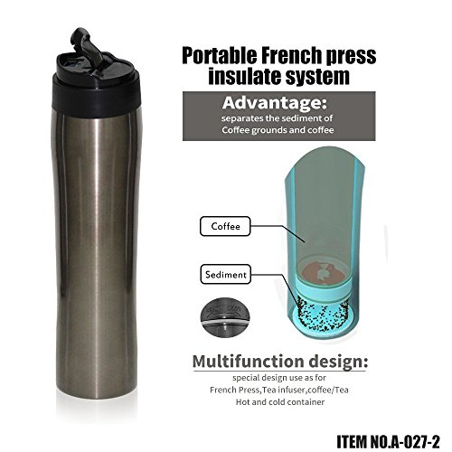 Brbhom Portable French Press With Separation Filtration