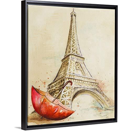 Tour Eiffel Black Floating Frame Canvas Art, 18