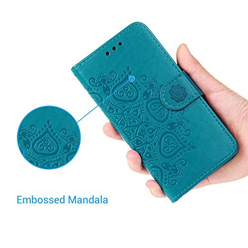 iPhone 8 Plus Case, iPhone 7 Plus Wallet Case Embossed Love PU Leather Case TPU Shock Bumper Magneti - http://coolthings.us