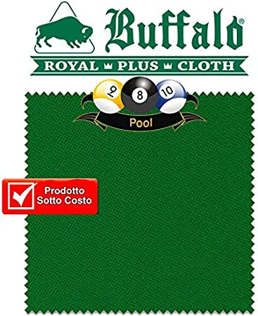 Buffalo Royal Plus Verde Gamuza, cm. 340 x 170 para billar Pool 9 ...