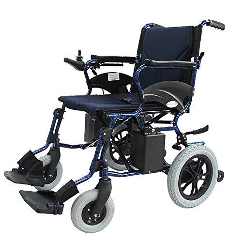 SISHUINIANHUA Silla de Ruedas electrica Plegable 25 kg de Peso Ligero, Ancho de Asiento 45 cm, Silla de Movilidad, sillas de Ruedas motorizadas, Capacidad de Peso 100 kg