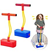 2 Pack Foam Pogo Stick Bungee Jumper for Kids Outdoor Toys, Foam Bouncing Toy for Kids Age 3 and ...