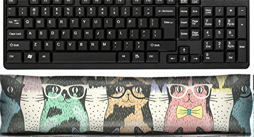 Liili Keyboard Wrist Rest Pad Office Decor Wrist Supporter Pillow Seamless pattern with hipster cute cats for children IMAGE ID 23764054
