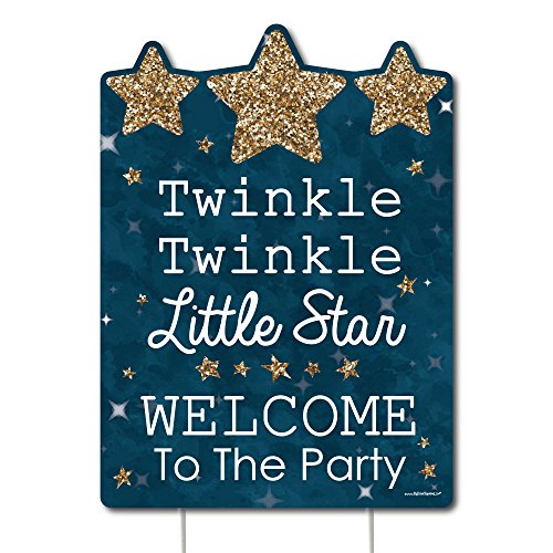 Big Dot of Happiness Twinkle Twinkle Little Star - Party Decorations - Birthday Party or Baby Shower Welcome Yard Sign -