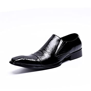 Zapatos de HombreModa/Cuero Mocasines Primavera/Otoño/Invierno Confort/Zapatos Formales Oxfords Zapatos Negro/Fiesta y Noche/Zapato de Vestir para Hombre ...