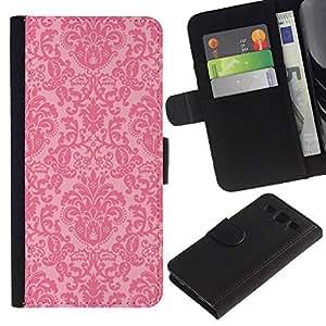 iBinBang / Flip Funda de Cuero Case Cover - Rústico Rosa Wallpaper - Samsung Galaxy S3 III I9300