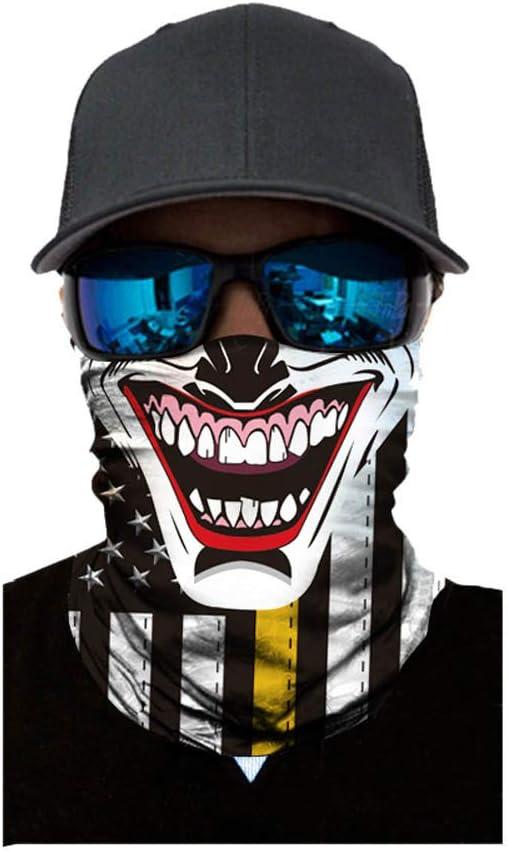 BaZhaHei Unisex Summer Sunscreen Gesichtsschal Sonnenschutz Sport Mode Winddichter f/ür den Turbanhals im Freien f/ür Wandern Radfahren Laufen Motorrad Multifunktionstuch