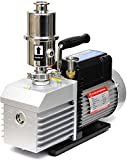 vacuum pump oil mist filter - Across International EV9.110 Ai Easyvac Dual-Stage Vacuum Pump with Oil Mist Filter Fittings for Degassing Chamber Vacuum Oven, 9 CFM