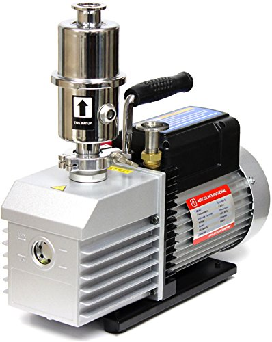 Mist Vacuum Pump Oil - Across International EV9.110 Ai Easyvac Dual-Stage Vacuum Pump with Oil Mist Filter Fittings for Degassing Chamber Vacuum Oven, 9 CFM