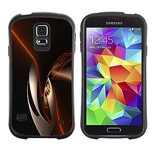 LASTONE PHONE CASE / Suave Silicona Caso Carcasa de Caucho Funda para Samsung Galaxy S5 SM-G900 / Black Shiny Dark Smooth