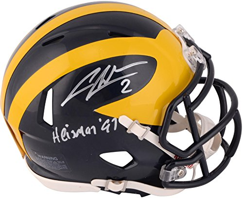 Charles Woodson Michigan Wolverines Autographed Mini Helmet with