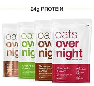 Oats Overnight (3 onzas por paquete) de alto valor proteico/bajo ...