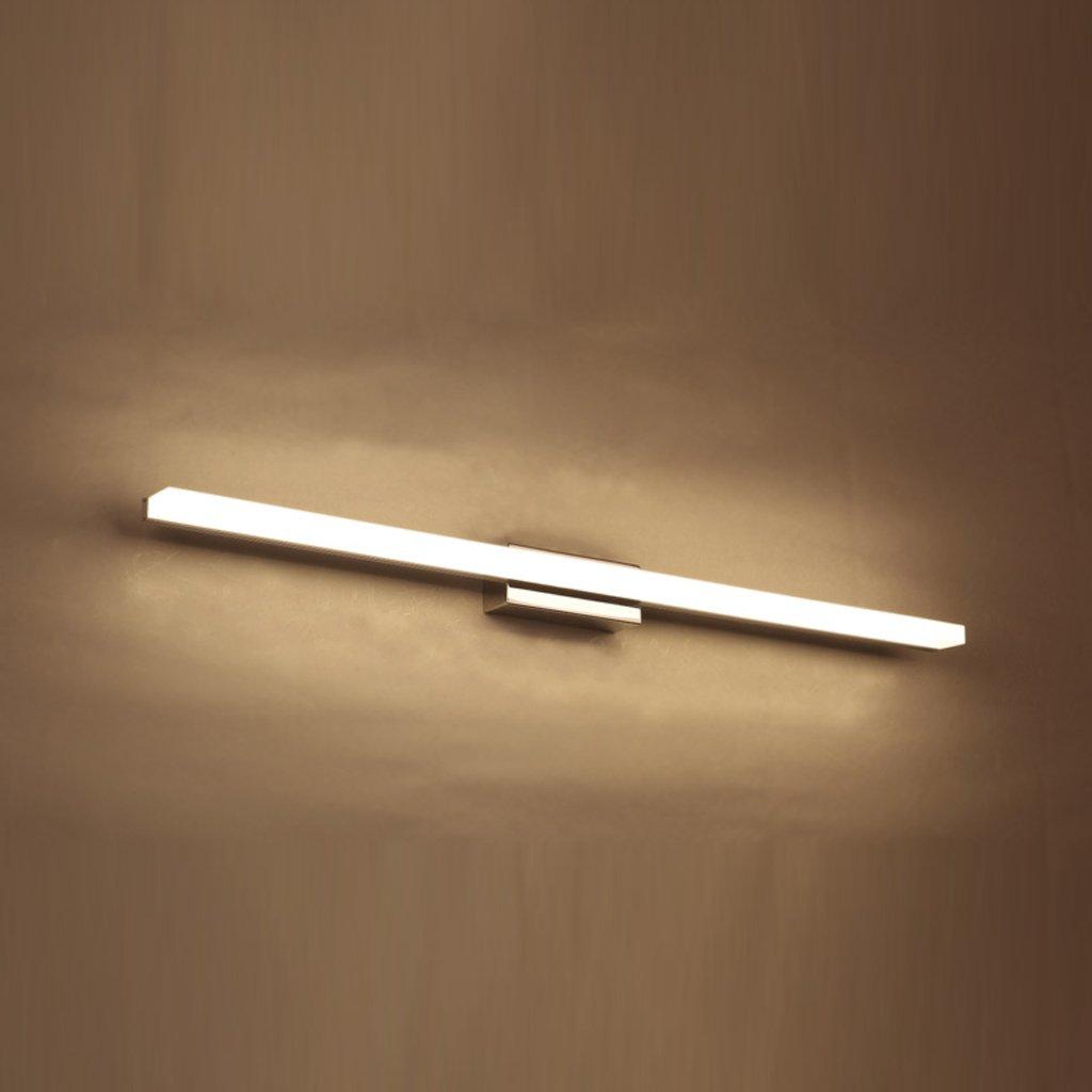 JJJJD Badezimmer-Badezimmer-Spiegel-Scheinwerfer, LED-Badezimmer-Wand-Lampen-Verfassungs-Lampe, Hardware + Acrylweiß (Farbe   Weiß-60cm 9W)