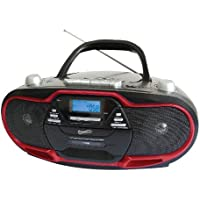 Supersonic SC745 CD/MP3 Boombox- Red