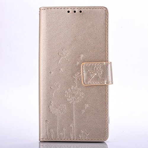 Ecoway Para LG X Cam/k580 Funda, (Oro Pálido ) Gofrado Cuero de la PU Leather Cubierta ,Función de Soporte Billetera con Tapa para Tarjetas Soporte para Teléfono oro pálido