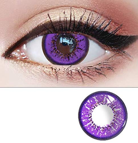 1pair Women Fashion Cute Colored Contact Lenses Eyes Charm and Attractive Cosmetic Makeup Eye Shadow for Halloween