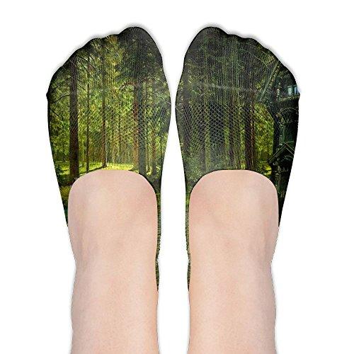 Womens Fantasy Magical Forest Popular No Show Socks Low Cut Socks Non Slip