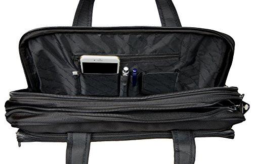 Borsa a tracolla da uomo, borsa da lavoro, cartella portadocumenti, formato orizzontale 281, misura XXL