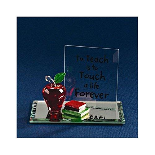 Apple To Teach Glass Figurine
