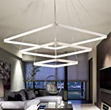 LUCKY CLOVER-A Minimalist Chandelier Ceiling Light 3 Rings Pendant Light Modern Aluminium Alloy Design LED Lighting Modern Home Decor , White