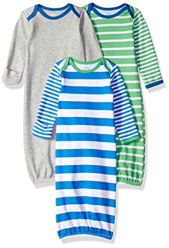 - Amazon Essentials Baby Boys 3-Pack Sleeper Gown, Colorblock, 0-6M