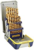 IRWIN Titanium-Nitride Coated Metal Index Drill Bit Set with Case, 29-Piece, 3018003