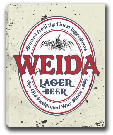 Weida Lager Beer Stretched Canvas Sign 24  X 30