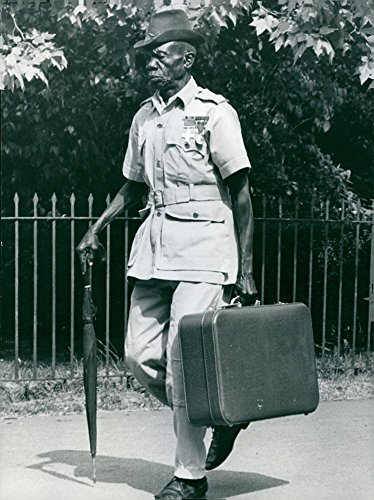 Vintage photo of Eduardo Omara, a native of Uganda will flew to London for his meeting with the Queen.