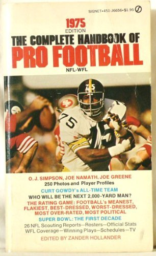 The Complete Handbook of Pro Football 1975: 1975 Edition